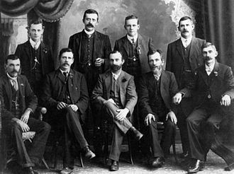 Moggill, Queensland - Men of the Anstead family, early settlers in the Moggill area.