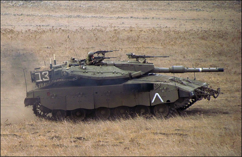 Merkava Mk III during a display in the Golan Heights (retouched)