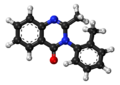 Methaqualone ball-and-stick model.png