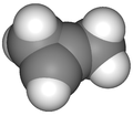 van der Waals model of cyclopropene