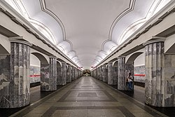 Metro SPB Line1 Baltyskaya Central Hall.jpg