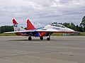"""MiG-29UB Aerobatic team """"STRIZHI"""" (""""The Swifts"""") (4256992891).jpg"""
