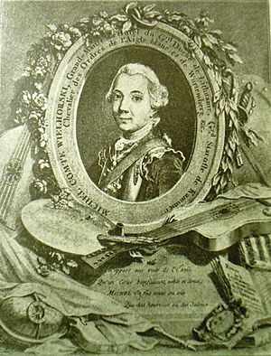Michał Wielhorski (elder) - Image: Michał Wielhorski magister culinae Magni Ducatus Lithuaniae 1780