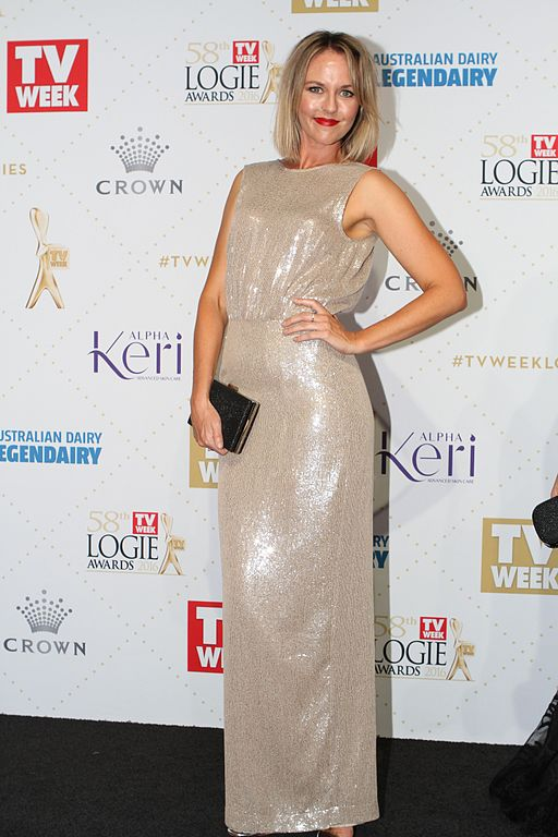 Michelle Langstone arrives at the 58th Annual Logie Awards at Crown Palladium on May 8, 2016 in Melbourne, Australia. (26836177471)