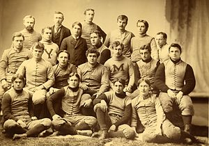 1893 Michigan Wolverines football team - Image: Michigan Wolverines footb 1893