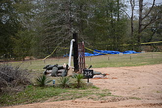 2013 Alabama bunker hostage crisis - The PVC pipe used by Dykes for communication.