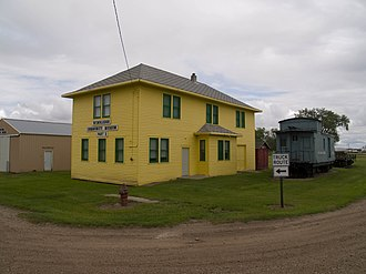 National Register of Historic Places listings in Barnes County, North Dakota - Image: Midland Continental Railroad Depot