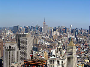 English: The Midtown Manhattan skyline in New ...