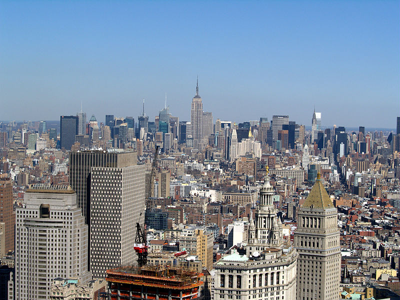 File:Midtown Manhattan Skyline seen from Wall Street.jpg