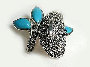 English: Silver jewelry from Midyat - Turkey.