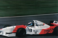 Photo de la McLaren MP4/10 de Häkkinen à Siverstone