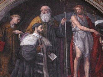 San Maurizio al Monastero Maggiore - Detail of Bernardino Luini's frescoes