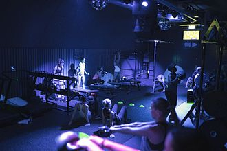 Ministry of Sound - Busy fitness class at Ministry of Sound Fitness