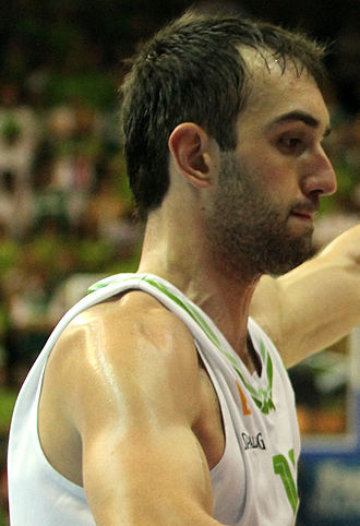 Mirza Begić - Begić during EuroBasket 2013