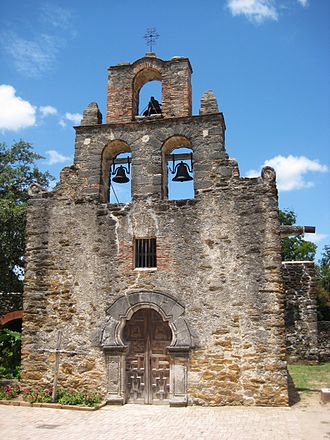 Mission San Francisco de la Espada - The church of Mission San Francisco de la Espada.