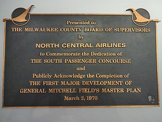 General Mitchell International Airport - Plaque in Concourse E