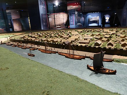 The fortified Viking Age town of Aros Model of viking age Aarhus 05.JPG