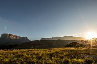 Raleigh's El Dorado Expedition - Mount Roraima in the Guiana highlands