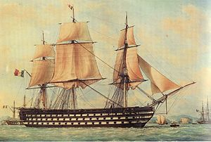French ship Montebello (1812) - Image: Montebello Francois Roux