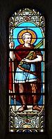 Montmoreau-St-Cybard 16 Église Vitrail St Maurice 2014.jpg