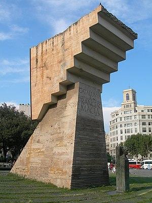 Estat Català - Monument to Francesc Macià in Plaça Catalunya (Barcelona).