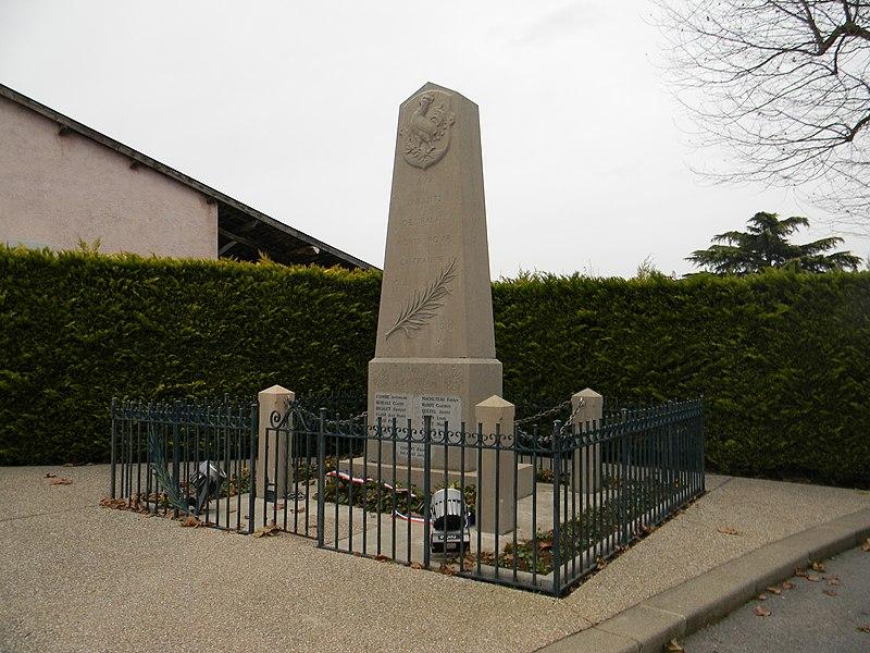 Monument aux morts de Balan, dans l'Ain.