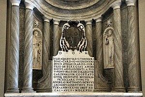 Giulio Acquaviva d'Aragona - Tomb