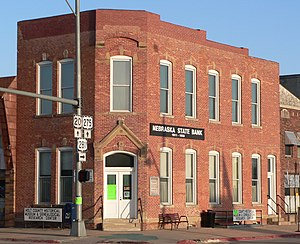 National Register of Historic Places listings in Holt County, Nebraska - Image: Moses Kinkaid Bldg from NW
