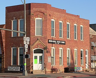 O'Neill, Nebraska - The old Nebraska State Bank building is now the Holt County Historical Museum. Moses Kinkaid's office, now restored, occupied the second floor of the building.