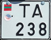 Motorcycle license plate from Transnistria.JPG