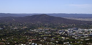 Mount Ainslie hill in Canberra, Australia