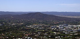 Mount Ainslie - Mount Ainslie viewed from the Telstra Tower