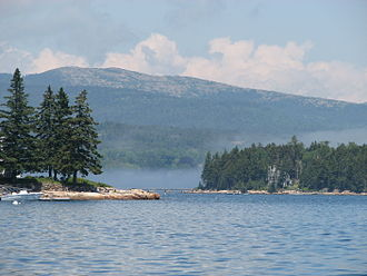 Mount Desert Island - View of the coast