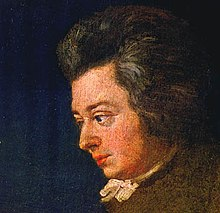 Detail of portrait of Mozart by his brother-in-law Joseph Lange; for discussion of the portrait, see Joseph Lange (Source: Wikimedia)