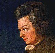 Unfinished portrait of Mozart, 1782