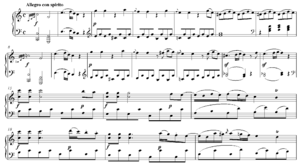 Subject (music) - Image: Mozart Sonata in C Major, K. 309, I exposition theme 1