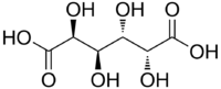 Structural formula of mucic acid