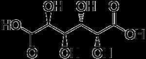 Mucic acid - Image: Mucic acid structure