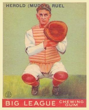 Muddy Ruel - 1933 Goudey baseball card of Muddy Ruel
