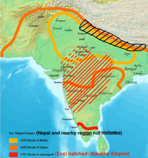 Historical map of the Mughal empire uploaded f...