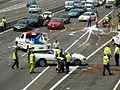 Multi vehicle accident - M4 Motorway, Sydney, NSW (8076145836).jpg