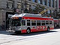 Muni route 6 trolleybus at Market and 5th Street, September 2018.JPG