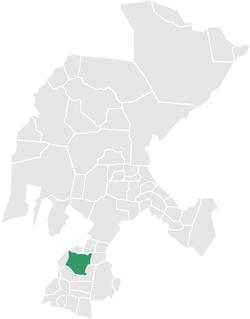 Vị trí của đô thị trong bang Zacatecas