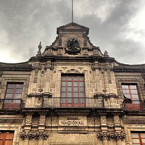 Museo Nacional de las Culturas - Above the main entrance of the museum