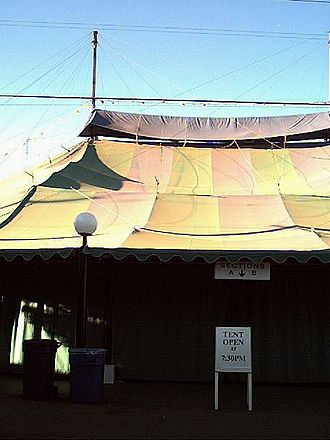 Summer stock theatre - The Sacramento Music Circus tent in 2001