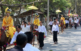 Shinbyu - A shinbyu ceremony at Mandalay.