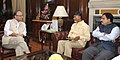 N. Chandrababu Naidu calling on the Union Minister for Finance, Corporate Affairs and Information & Broadcasting, Shri Arun Jaitley, in New Delhi. The Minister of State for Science and Technology and Earth Science.jpg