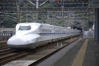 N700 Series Shinkansen - JR Central N700-2000 series set X50 in September 2014