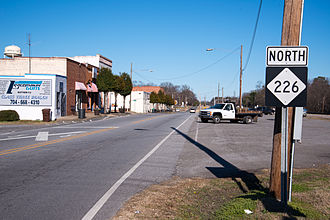 North Carolina Highway 226 - NC 226 in downtown Grover