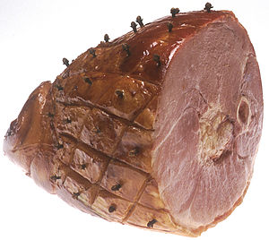 Ham with cloves